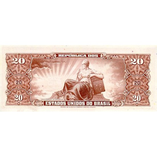 1962 - Brazil P177a 10 Cruceiros banknote