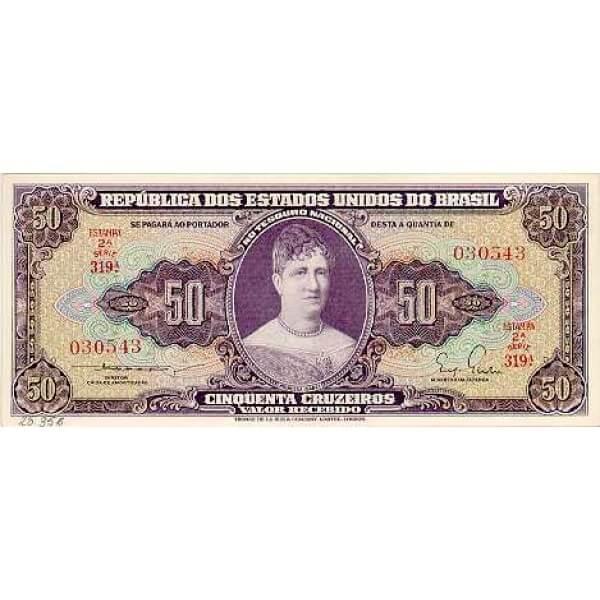 1962 - Brasil P178 billete de 20 Cruceiros
