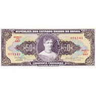 1967 - Brazil P184b 5 centavos on 50 cruceiros banknote