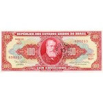 1967 - Brazil P185a 10 centavos on 100 Cruceiros banknote