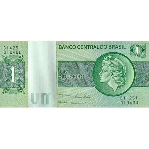 1980 - Brasil P191Ac billete de 1 Cruceiro