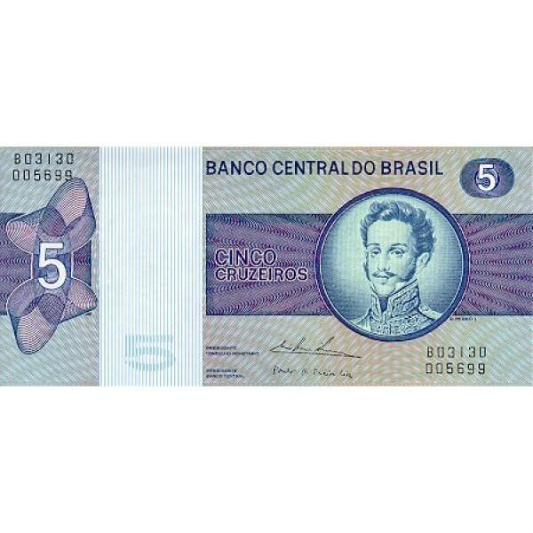 1979 - Brazil P192d 5 Cruceiros  banknote
