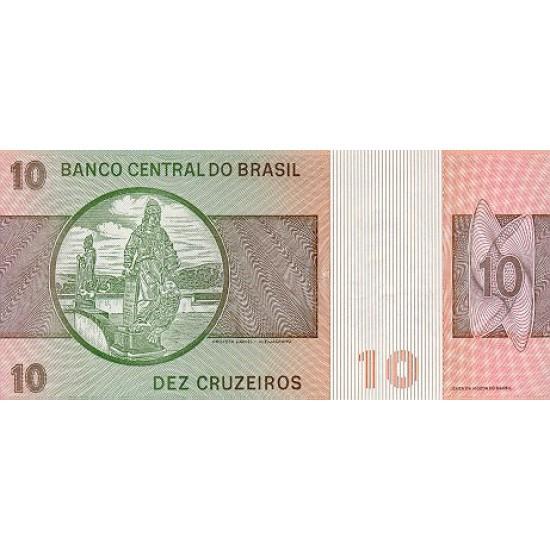 1980 - Brazil P193e 10 Cruceiros banknote