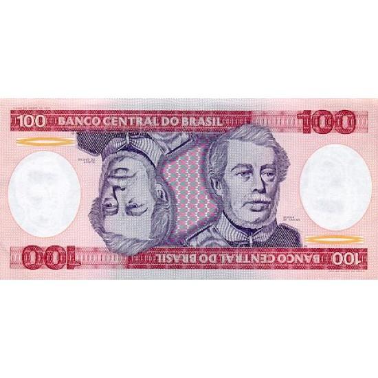 1984 - Brazil P198b 100 Cruceiros banknote