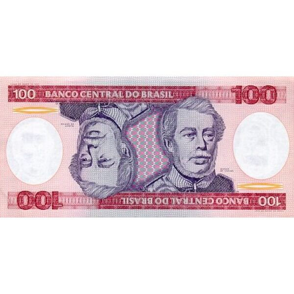 1984 - Brazil P198b 100 Cruceiros banknote