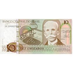 1987 - Brasil P209b billete de 10 Cruzados