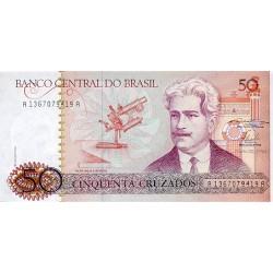 1986 - Brazil P210a 50 Cruzados banknote