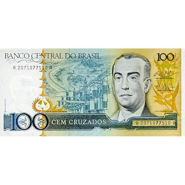 1987 - Brasil P211c billete de 100 Cruzados