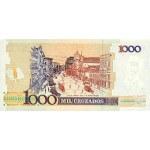 1989 - Brasil P216b billete de 1 cruzado novo en 1.000 cruzados