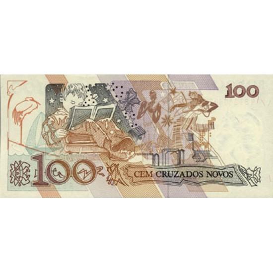 1989 - Brazil P220a 100 Cruzados novos banknote