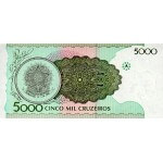 1990 - Brazil P227 5,000 Cruceiros banknote