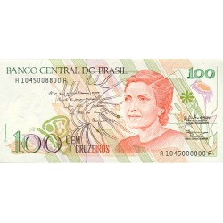 1990 - Brazil P228 100 Cruceiros banknote