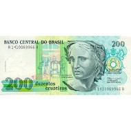 1990 - Brazil P229 200 Cruceiros banknote