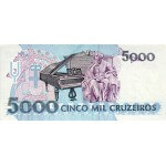 1993 - Brazil P232c 5,000 Cruceiros banknote