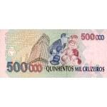 1993 - Brasil P236c billete de 500.000 Cruceiros