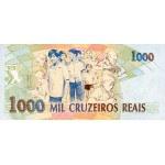 1993 - Brazil P240 1,000  Cruceiros Reais banknote