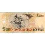 1993 - Brazil P241 5,000 Cruceiros Reais banknote