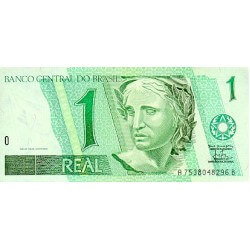 1997 - Brazil P243Ag 1 Real banknote