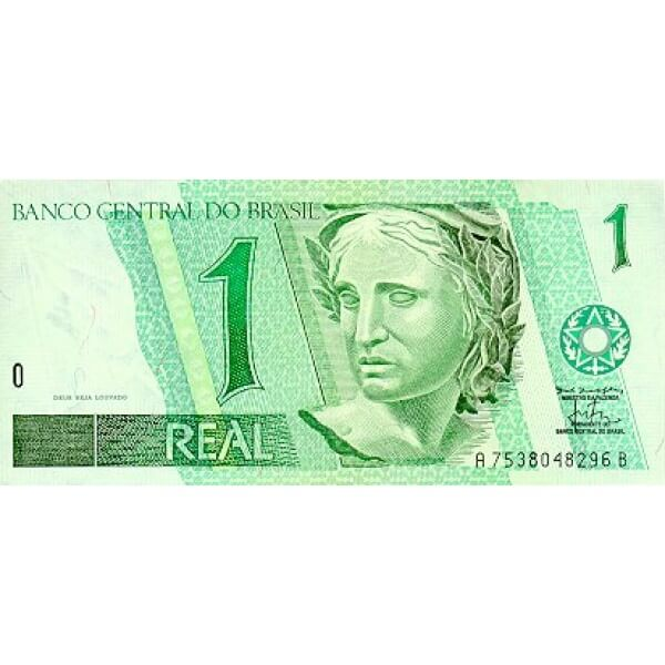 1994 - Brazil P243c 1 Real  banknote