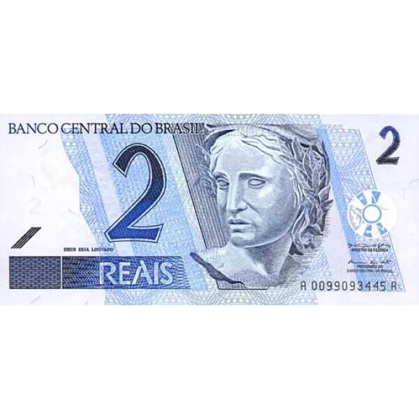 2001 - Brasil P249 billete de 2 Reais