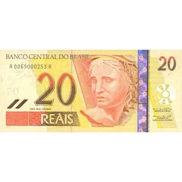 2002 - Brasil P250 billete de 20 Reais