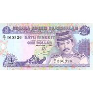 1989 -  Brunei PIC 13a     1 Ringgit banknote