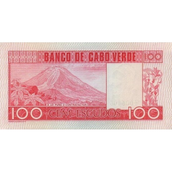1977 -  Cabo Verde PIC 54    100 Escudos  banknote