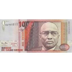 1989 -  Cabo Verde PIC 60    1000 Escudos  banknote