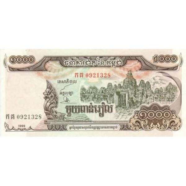 1999 -  Camboya pic 51  billete de 1000 Riel