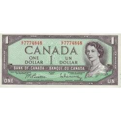 1972 - Canadá P75b 1 dollar banknote
