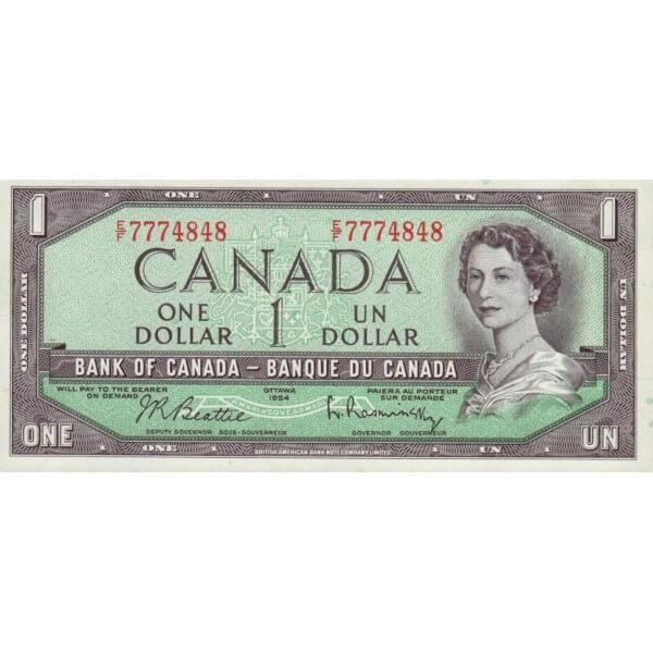 1972 - Canadá P75b Billete de 1 dólar