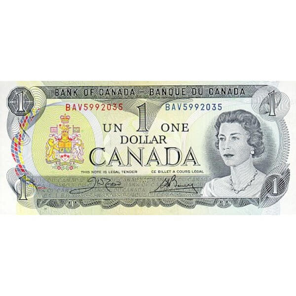 1973 - Canadá P85b Billete de 1 dólar