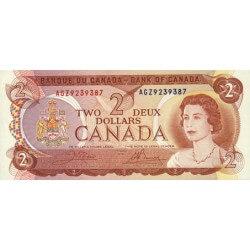 1974 - Canada P86 2 Dollars Banknote