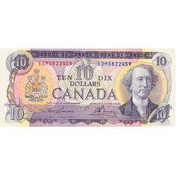 1971 - Canada P88e 10 Dollars  used banknote VF