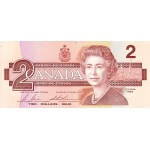 1986 - Canada P94b 2 dollars banknote