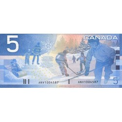 2002 - Canada P101 5 Dollars banknote