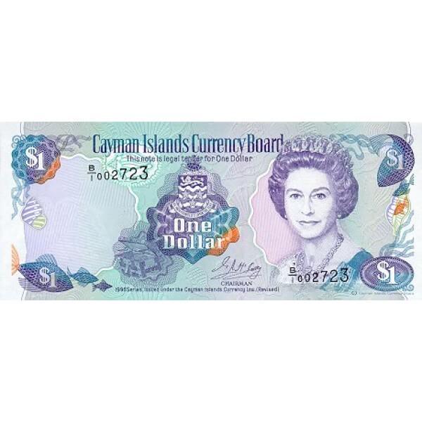 1996 - Cayman Islands 16b 1 Dollar banknote