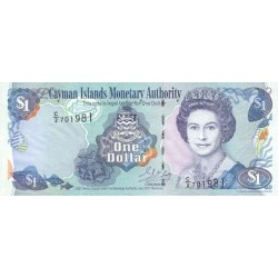 2001 - Cayman Islands P26b 1 Dollar banknote