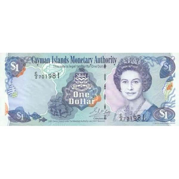 2001 - Caimán Islas P26b billete de 1 Dólar