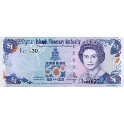 2003 - Cayman Islands P30a 1 Dollar banknote