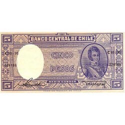1958/1959 - Chile P119 billete de 5 Pesos