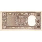1958/1959 - Chile P120 billete de 10 Pesos