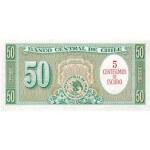 1960/1961 - Chile P126b billete 5 céntimos de escudo en 50 pesos