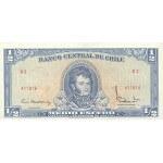 1962/1975 - Chile P134Aa 1/2 Escudo banknote