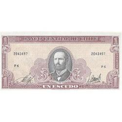 1964 - Chile P136 1 Escudo banknote