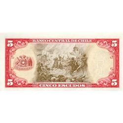 1964 - Chile P138 5 Escudos banknote