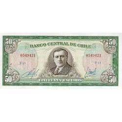 1962/1975 - Chile P140b 50 Escudos banknote