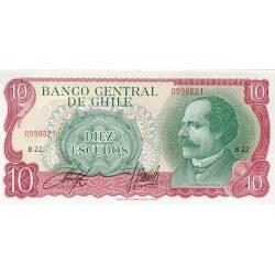 1976 - Chile P142A  10 Escudos banknote