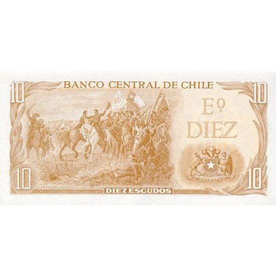 1976 - Chile P143 10 Escudos banknote