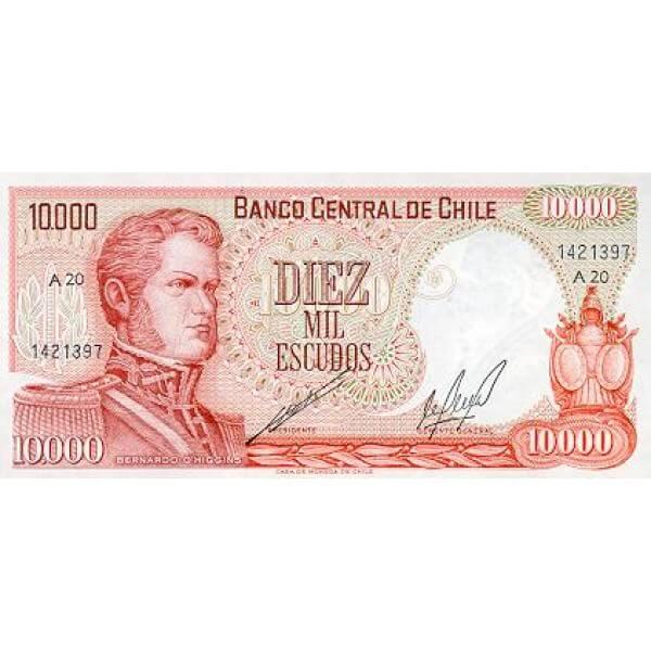 1973 - Chile P148 billete de 10.000 Escudos